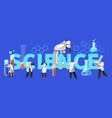 scientist chemistry education lab equipment poster vector image