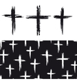 Seamless pattern with grunge crosses vector image