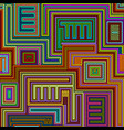 seamless tribal abstract stripped geometric vector image vector image