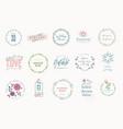 set elegant badges for beauty vector image
