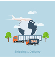 shipping and delivery vector image vector image