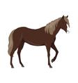 Sorrel Horse in Flat Design vector image vector image