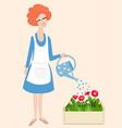 spring gardening vector image vector image