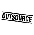 Square grunge black outsource stamp