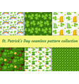 st patricks day seamless pattern collection with vector image vector image
