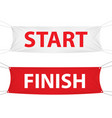 start and finish textile banner template vector image