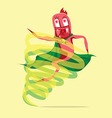 Super Larva Cartoon vector image vector image