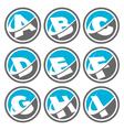 Swoosh Alphabet Logo Icons Set 1 vector image vector image