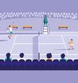 tennis sport court scene vector image vector image