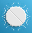 The white pill on a blue background vector image