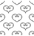 tile pattern with black hearts on white background vector image vector image