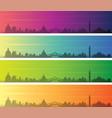 venice multiple color gradient skyline banner vector image vector image