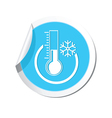 Weather forecast thermometer icon vector image vector image