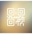 QR code thin line icon vector image