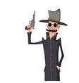 spy with gun vector image