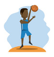 color scene with faceless basketball player vector image