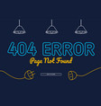 404 error not found page background design vector image vector image