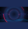 abstract futuristic technology background vector image vector image