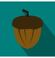 Acorn icon in flat style vector image