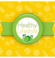 Active healthy lifestyle background vector image vector image
