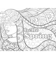 adult coloring bookpage a fairy spring with vector image vector image