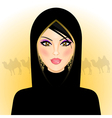 Arab woman vector image vector image