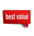 best value red 3d speech bubble vector image vector image