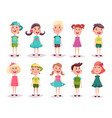 boy and girl kids and children childhood theme vector image vector image