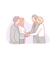 business partnership collaboration team vector image vector image