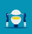 business team ideas make money concept vector image vector image