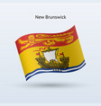 canadian province of new brunswick flag waving vector image