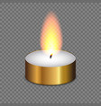 candle light flame isolated vector image vector image
