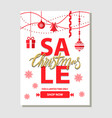 christmas sale shop now on vector image vector image