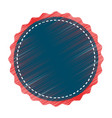 circle seal stamp lace vector image vector image