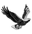 classic american wild eagle emblem in fly vector image