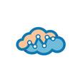 cloud metric logo vector image