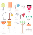 colorful indoor lights collection vector image vector image