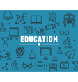 Concept of education with elements vector image vector image