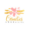 delicate logo design for cosmetics shop or vector image vector image