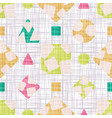 design textile with geometric shapes vector image vector image