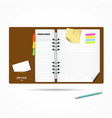 Diary note book modern design background vector image