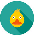 duckling face vector image vector image