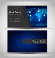 elegant business card front and back side vector image