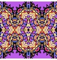 ethnic seamless pattern background in violet and vector image vector image
