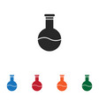 flask icon vector image vector image