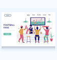 football fans website landing page design vector image vector image