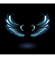 glowing angel wings vector image vector image