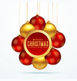 group of golden luxury christmas balls for vector image vector image