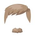 hairstyles beard and hair face cut mask flat vector image