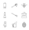 honey commerce icons set outline style vector image vector image
